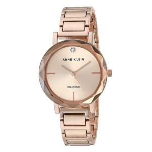 Anne Klein Diamond Accented AK3278TMGB - zegarek damski