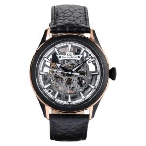 Carl Von Zeyten Waldkirch Skeleton Automatic  CVZ0065RBK - zegarek męski