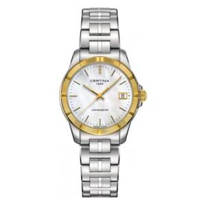 Certina DS Jubile Lady COSC Chronometer Gold Diamonds C902.251.41.016.00 - zegarek damski