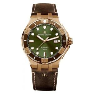 Maurice Lacroix AIKON GENT VENTURER AUTOMATIC BRONZE CERAMIC SET LIMITED EDITION AI6058-BRZ01-630-1 - zegarek męski