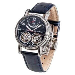 Carl Von Zeyten BERNAU DUAL BALANCE AUTOMATIC CVZ0033BL - zegarek męski
