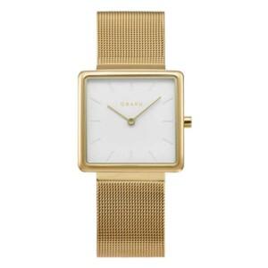 Obaku KVADRAT - GOLD V236LXGIMG - zegarek damski