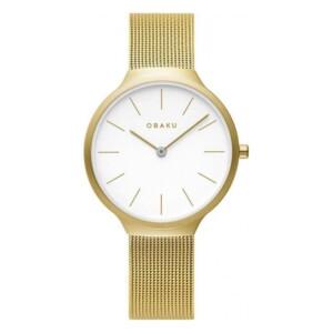 Obaku ARK LILLE - GOLD V240LXGWMG - zegarek damski