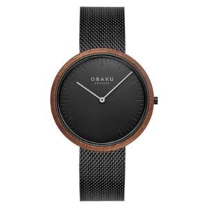 Obaku TRAE - CHARCOAL V245GXBBMB - zegarek męski