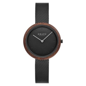 Obaku TRAE LILLE - CHARCOAL V245LXBBMB - zegarek damski