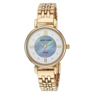 Anne Klein Swarovski Crystal Accented Solar AK3610GPWT - zegarek damski
