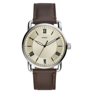 Fossil COPELAND THREE-HAND BROWN LEATHER FS5663 - zegarek męski