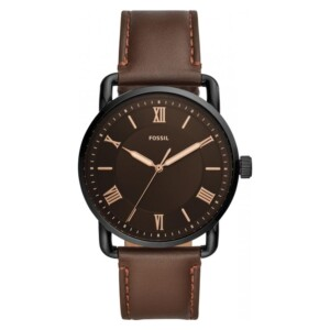 Fossil COPELAND THREE-HAND BROWN LEATHER FS5666 - zegarek męski