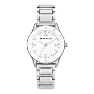 Anne Klein White Silver AK3603WTSV - zegarek damski
