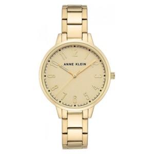 Anne Klein Gold-Tone AK3618CHGB - zegarek damski