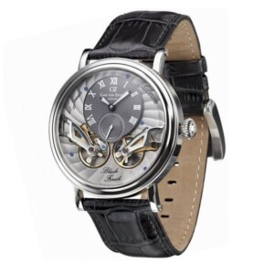 Carl Von Zeyten Black Forest Twin Balance Automatic CVZ0017SGY - zegarek męski