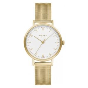 Obaku BRINK LILLE - GOLD V248LXGIMG - zegarek damski
