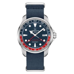 Certina DS ACTION GMT POWERMATIC 80 NATO C032.429.18.041.00 - zegarek męski