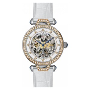Carl Von Zeyten Gütenbach Skeleton CVZ0071RWH - zegarek damski