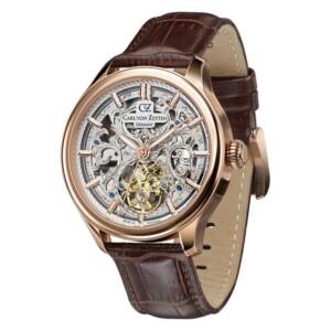Carl Von Zeyten St. Georgen Skeleton Automatic CVZ0014RSL - zegarek męski
