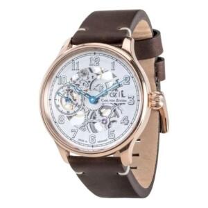Carl Von Zeyten Lahr Skeleton Automatic CVZ0021RWH - zegarek męski