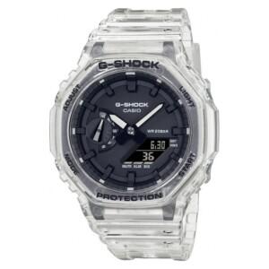 G-shock Casio Octagon White Skeleton GA-2100SKE-7A - zegarek męski