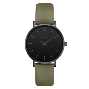 Cluse Minuit Full Black Olive Green CL30007